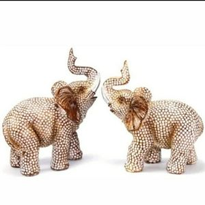 Elephant Figurine Statue Trunk Up Collectible NIB